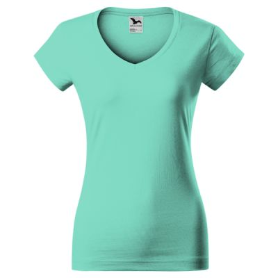 Damen - T-Shirt - Malfini - Fit - V-Neck  Miniaturansicht